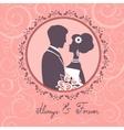 Elegant wedding couple vector image vector image