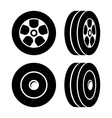 Tires Icons Set on White Background vector image vector image