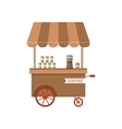 Flat Icon Cart of Coffee Isolated on White vector image vector image