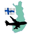 fly me to the Finland vector image vector image