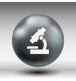 Black microscope icon - symbol vector image