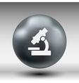 Black microscope icon - symbol vector image