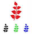 leaf branch icon vector image