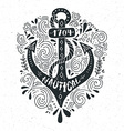 Nautical Lettering vector image