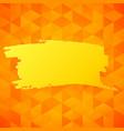 orange triangles backdrop vector image