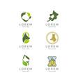 pet logo set vector image