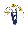 Business Clipart Jump Coin vector image vector image