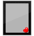 Designer Black Photo Frame with Heart vector image vector image