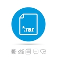 Archive file icon Download RAR button vector image