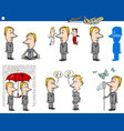 business concept cartoons set vector image vector image