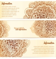 Ornate henna ornament vintage banners vector image vector image