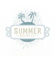 summer holidays hand drawn summer beach party vector image