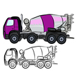 Concrete Truck Mixer vector image vector image
