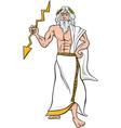 greek god zeus cartoon vector image vector image