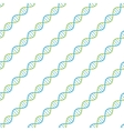 seamless pattern DNA spiral scientific vector image