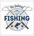 Fishing emblem badge and design elements vector image