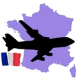 fly me to the France vector image vector image