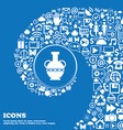 Amphora icon Nice set of beautiful icons twisted vector image