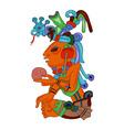 aztec character vector image