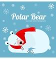 Cartoon Cute Polar Bear Animal Banner Card vector image