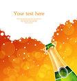 Champagne back vector image