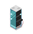 computer server rack isometric 3d icon vector image
