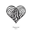Fingerprint Heart Icon vector image