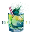 Hand drawn Mojito Watercolor vector image