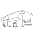 Hand drawn transport Bus vector image