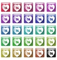 Icons for Valentin Day vector image
