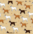 interesting seamless pattern with cute cartoon vector image