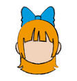 manga anime girl chibi character little vector image