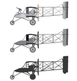 Model airplane retro biplane vector image