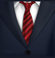 necktiecostumeclassic tuxedojacket vector image
