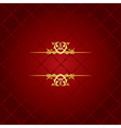 red and gold luxury background vector image