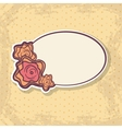 Retro Frame on Spotted Background vector image