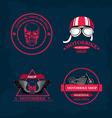 Set of labels motorbike shop vector image