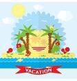 Vacation on the beach near the sea vector image