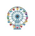 Ferris wheel icon cartoon style vector image