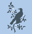 Raven on branch vector image vector image