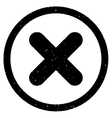 Cancel Icon Rubber Stamp vector image