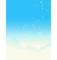 Shiny cloudscape vector image