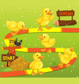 game template with ducks in the farm vector image vector image