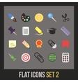 Flat icons set 2 vector image