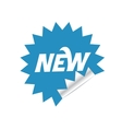 Blue sticker vector image vector image