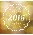 Happy New Year sign on blurred gold background vector image