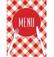 menu card background vector image