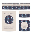 banners with pattern vector image vector image