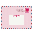 airmail love envelope vector image vector image