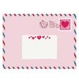 airmail love envelope vector image
